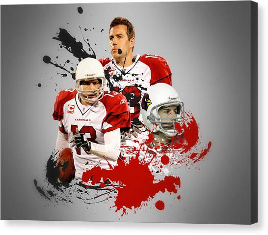 Arizona Cardinals Canvas Print - Kurt Warner Cardinals by Joe Hamilton