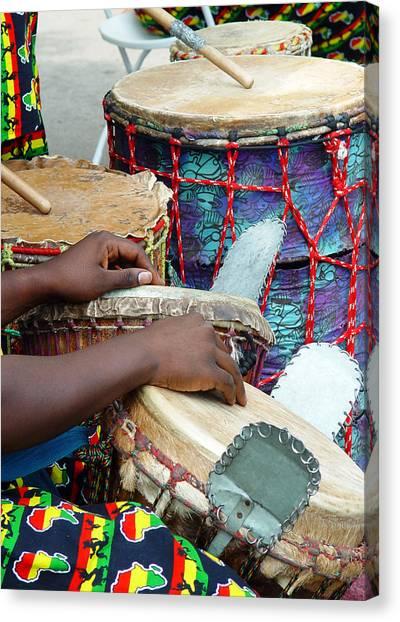 Djembe Canvas Print - Kuununga Drums by John Smolinski
