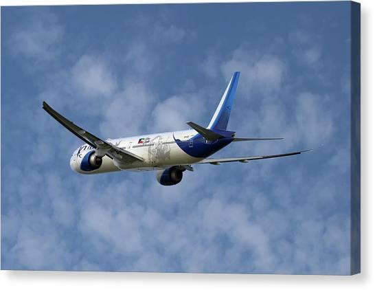 Kuwait Canvas Print - Kuwait Airways Boeing 777-369 1 by Smart Aviation