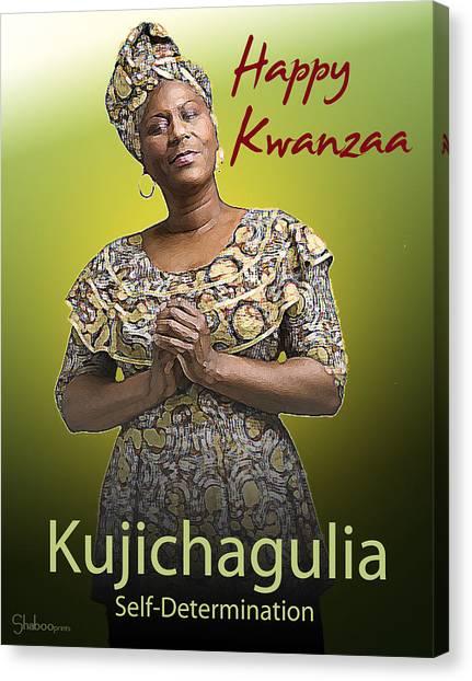 Kwanzaa Kujichagulia Canvas Print
