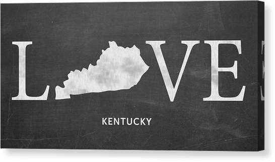 University Of Kentucky Canvas Print - Ky Love by Nancy Ingersoll