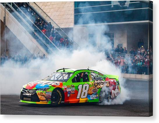 Kyle Busch Canvas Print - Kyle Busch - 2015 Nascar Champion  by James Marvin Phelps