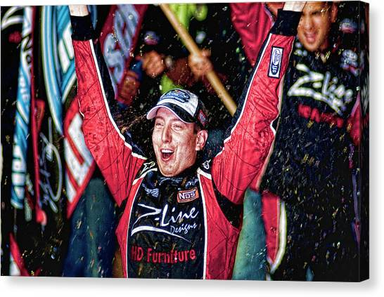Kyle Busch Canvas Print - Kyle Busch Nascar by Kevin Cable