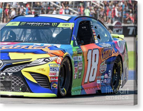 Kyle Busch Canvas Print - Kyle Busch by Paul Quinn