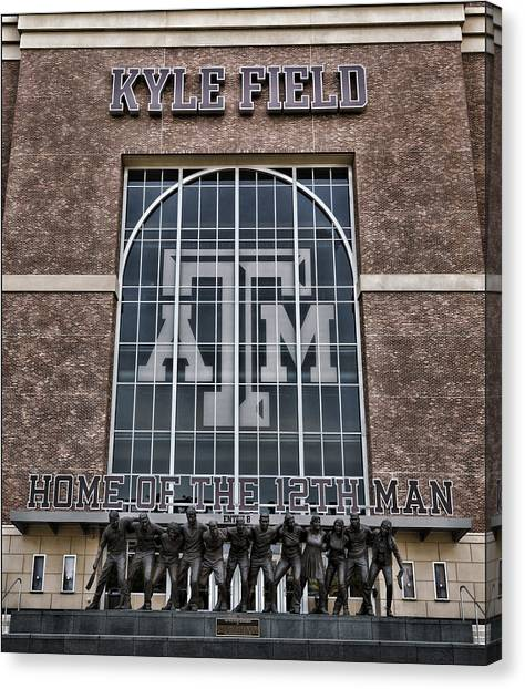 The University Of Texas Canvas Print - Kyle Field - Home Of The 12th Man by Stephen Stookey