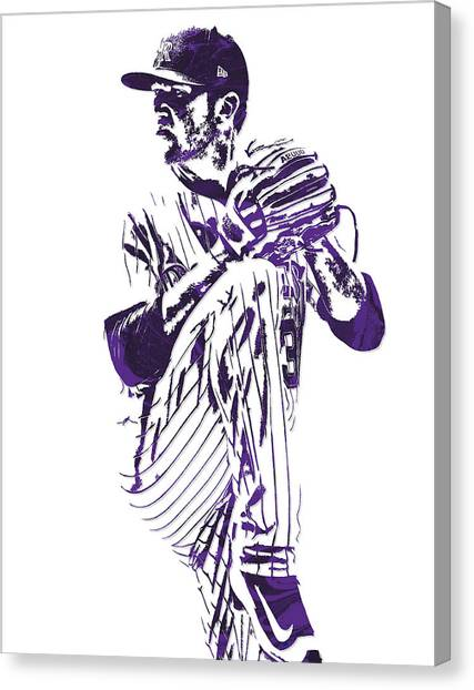 Colorado Rockies Canvas Print - Kyle Freeland Colorado Rockies Pixel Art 1 by Joe Hamilton