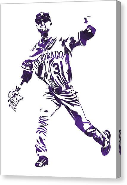 Colorado Rockies Canvas Print - Kyle Freeland Colorado Rockies Pixel Art 2 by Joe Hamilton