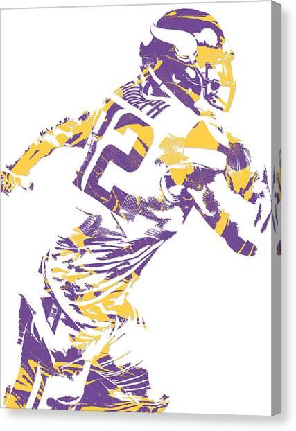 Minnesota Vikings Canvas Print - Kyle Rudolph Minnesota Vikings Pixel Art 5 by Joe Hamilton
