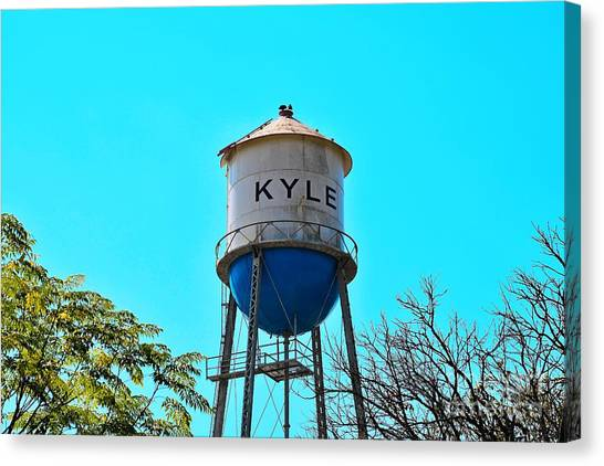 Kyle Texas Water Tower Canvas Print