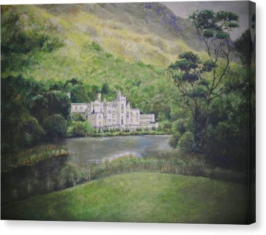 Kylemore Abbey Canvas Print by Cynthia Satton
