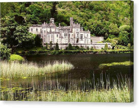Canvas Print featuring the photograph Kylemore Abbey Victorian Ireland by Menega Sabidussi