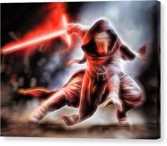 R2-d2 Canvas Print - Kylo Ren I Will Fulfill Our Destiny by Scott Campbell