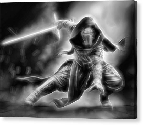 R2-d2 Canvas Print - Kylo Ren Nothing Will Stand In Our Way by Scott Campbell