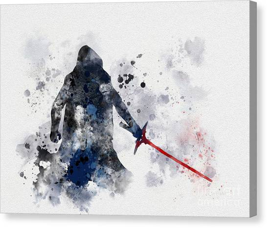 Darth Vader Canvas Print - Kylo Ren by Rebecca Jenkins