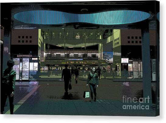 Bullet Trains Canvas Print - Kyoto Station, Japan Poster by Perry Rodriguez