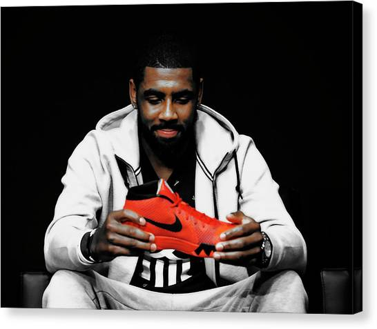 La Clippers Canvas Print - Kyrie Irving 02a by Brian Reaves