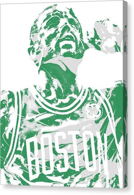 Kyrie Irving Canvas Print - Kyrie Irving Boston Celtics Pixel Art 41 by Joe Hamilton