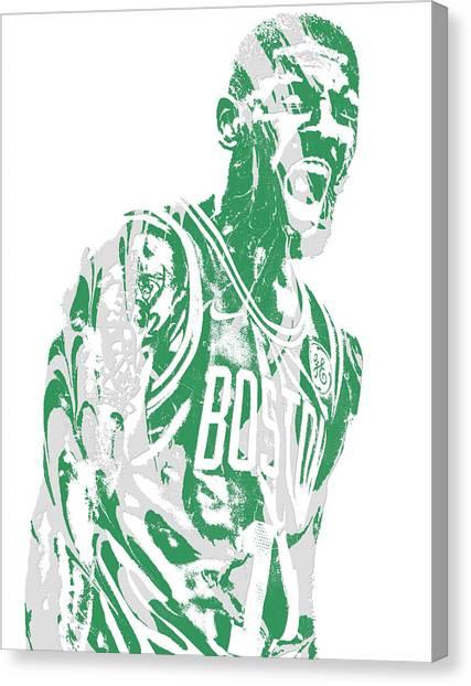 Kyrie Irving Canvas Print - Kyrie Irving Boston Celtics Pixel Art 42 by Joe Hamilton