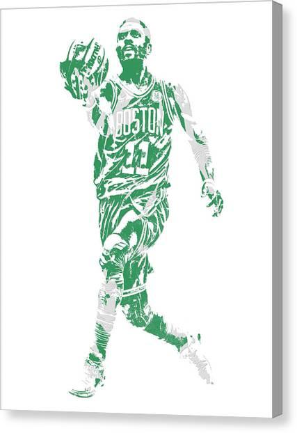 Kyrie Irving Canvas Print - Kyrie Irving Boston Celtics Pixel Art 43 by Joe Hamilton