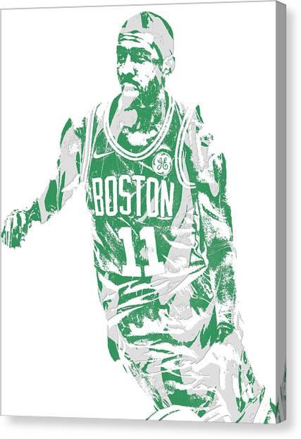 Kyrie Irving Canvas Print - Kyrie Irving Boston Celtics Pixel Art 6 by Joe Hamilton