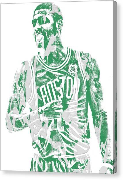 Kyrie Irving Canvas Print - Kyrie Irving Boston Celtics Pixel Art 7 by Joe Hamilton