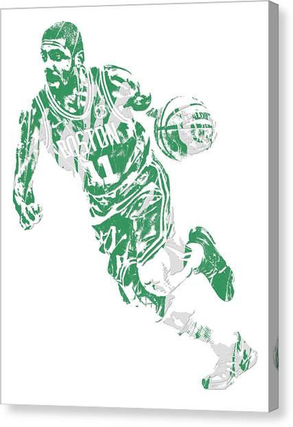 Kyrie Irving Canvas Print - Kyrie Irving Boston Celtics Pixel Art 9 by Joe Hamilton