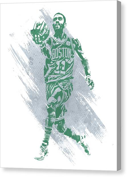 Kyrie Irving Canvas Print - Kyrie Irving Boston Celtics Water Color Art by Joe Hamilton