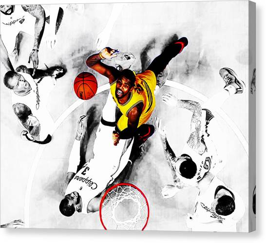 La Clippers Canvas Print - Kyrie Irving by Brian Reaves