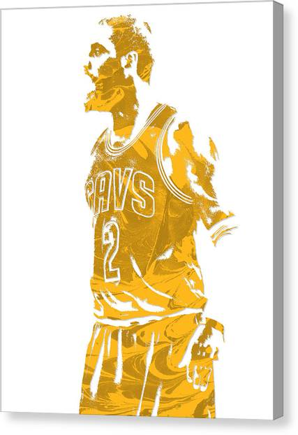 Kyrie Irving Canvas Print - Kyrie Irving Cleveland Cavaliers Pixel Art 10 by Joe Hamilton