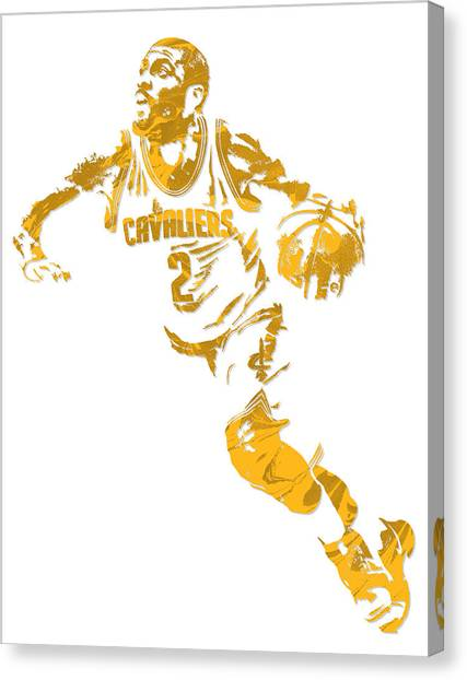 Cleveland Cavaliers Canvas Print - Kyrie Irving Cleveland Cavaliers Pixel Art 11 by Joe Hamilton