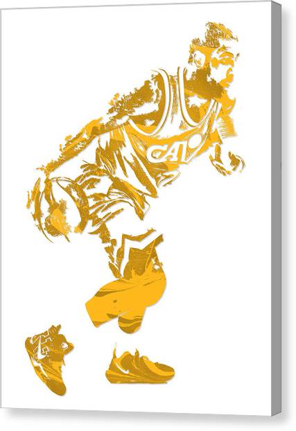 Kyrie Irving Canvas Print - Kyrie Irving Cleveland Cavaliers Pixel Art 12 by Joe Hamilton