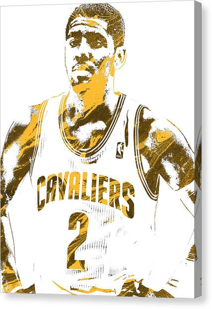 Kyrie Irving Canvas Print - Kyrie Irving Cleveland Cavaliers Pixel Art 3 by Joe Hamilton