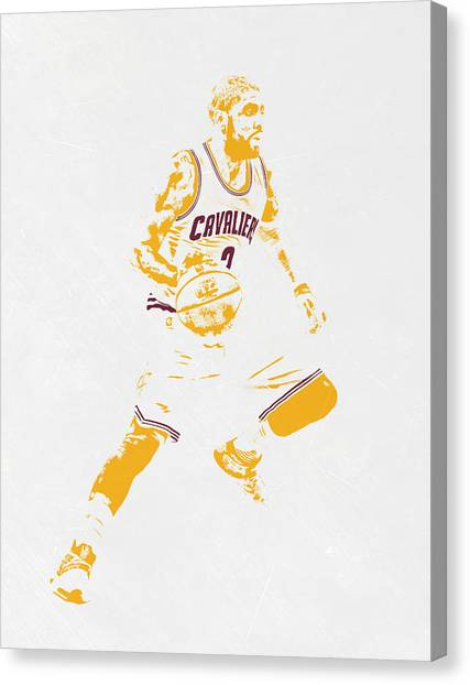 Kyrie Irving Canvas Print - Kyrie Irving Cleveland Cavaliers Pixel Art by Joe Hamilton