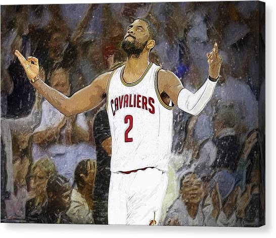 Dwight Howard Canvas Print - Kyrie Irving by Semih Yurdabak