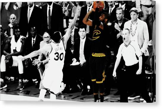 La Clippers Canvas Print - Kyrie Irving Smooth Jumper by Brian Reaves