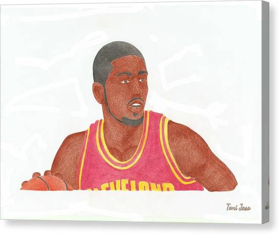 Kyrie Irving Canvas Print - Kyrie Irving by Toni Jaso