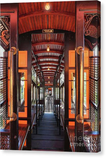 Los Angeles Angels Canvas Print - L A Angel's Flight  by Jennie Breeze