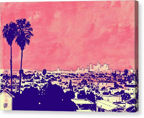 Los Angeles Angels Canvas Print - La 001 by Giuseppe Cristiano