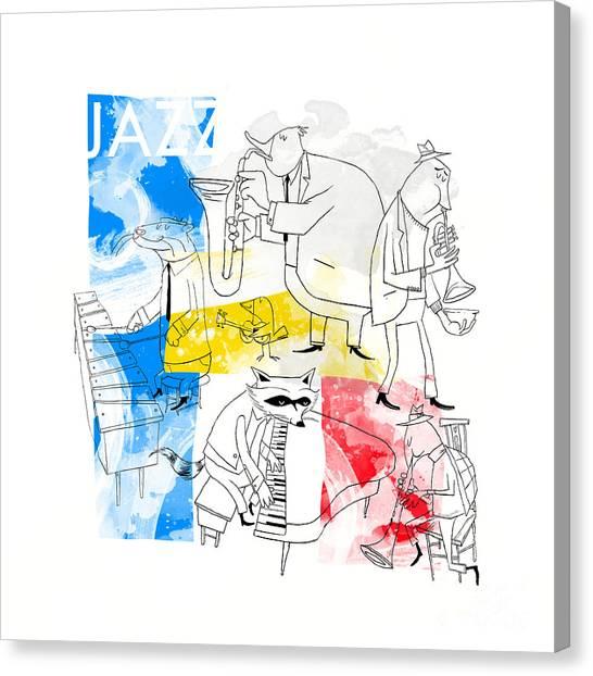 Otters Canvas Print - La Bande Du Jazz by Sean Hagan