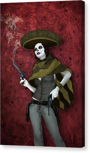 La Bandida Muerta Canvas Print
