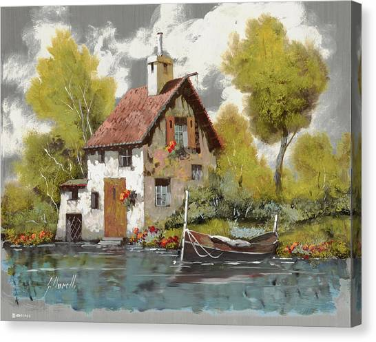 Oil On Canvas Print - La Barca by Guido Borelli