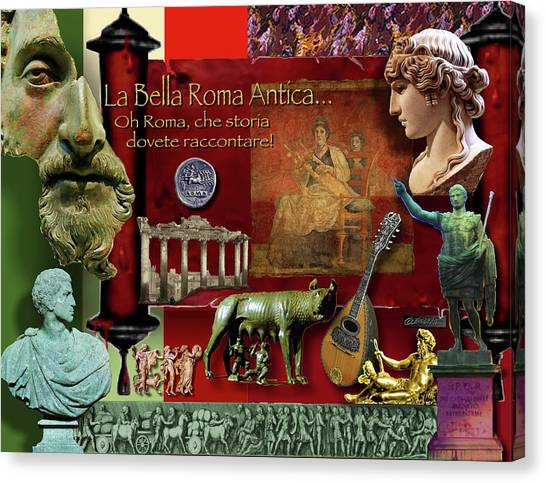 La Bella Roma Antica Canvas Print