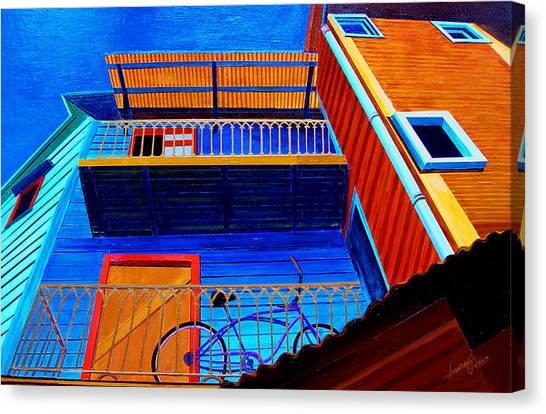 La Boca Looking Up Canvas Print