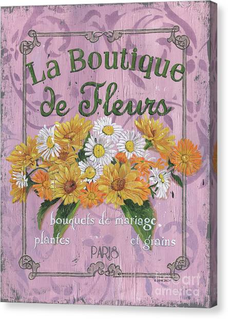 Wedding Bouquet Canvas Print - La Botanique 1 by Debbie DeWitt