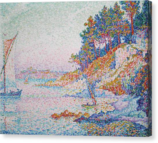 Divisionism Canvas Print - La Calanque by Paul Signac