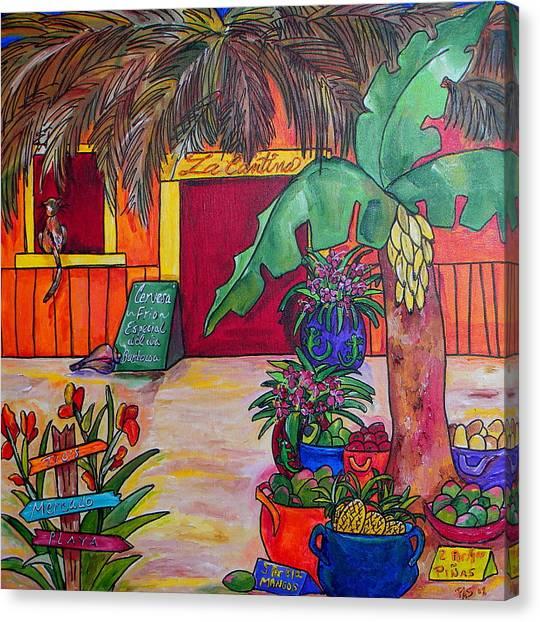 Mangos Canvas Print - La Cantina by Patti Schermerhorn