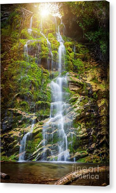 Canvas Print featuring the photograph La Chute by Elena Elisseeva