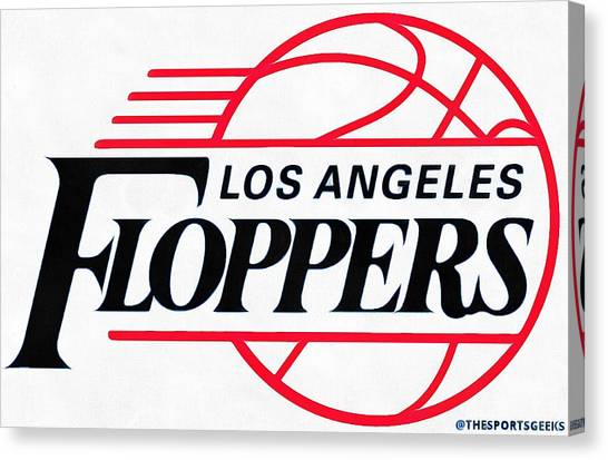 La Clippers Canvas Print - L.a. Clippers Parody by Rindu Kasih