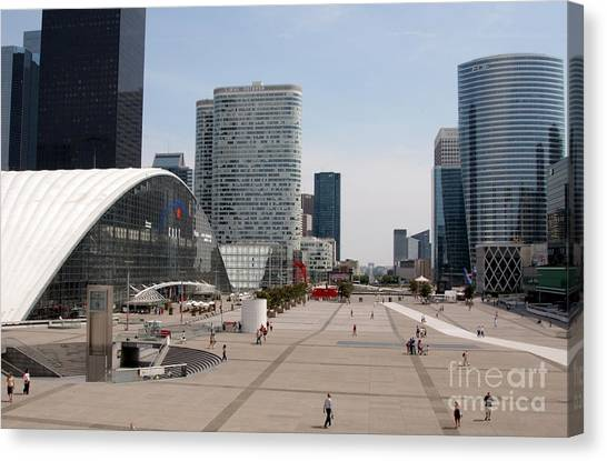 La Defense Canvas Print by Andy Smy