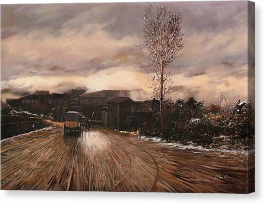 Mud Canvas Print - La Diligenza by Guido Borelli